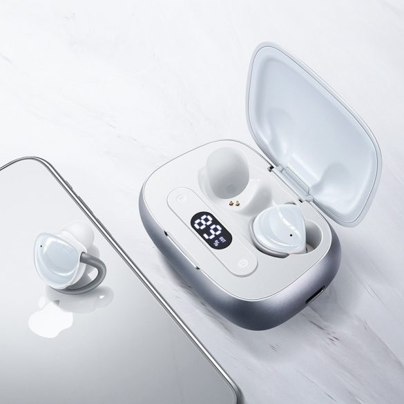 JOYROOM JR T10 bianca - Scatola di ricarica Auricolari Hi-Fi Bluetooth TWS, chip Airoha, alloggiamento in alluminio, grande capacità della batteria