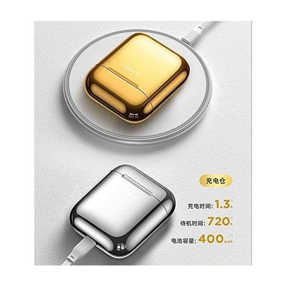 JOYROOM T03S TWS, color argento, Ricarica QI (wireless) supportata
