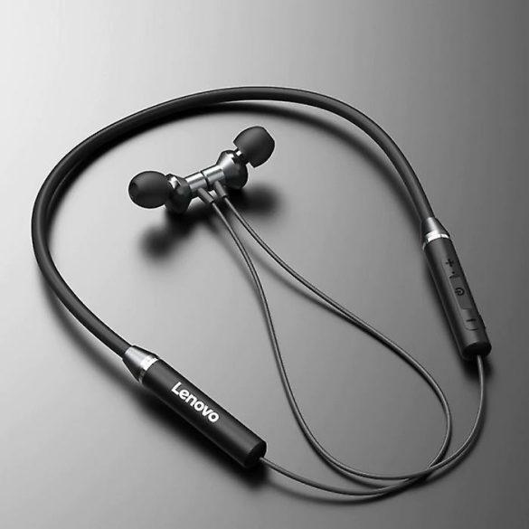 Lenovo HE05 Pro Red - Auricolare in-ear con archetto da collo con eliminazione del rumore del microfono, IPX5, cuffia Bluetooth 5.0 wireless