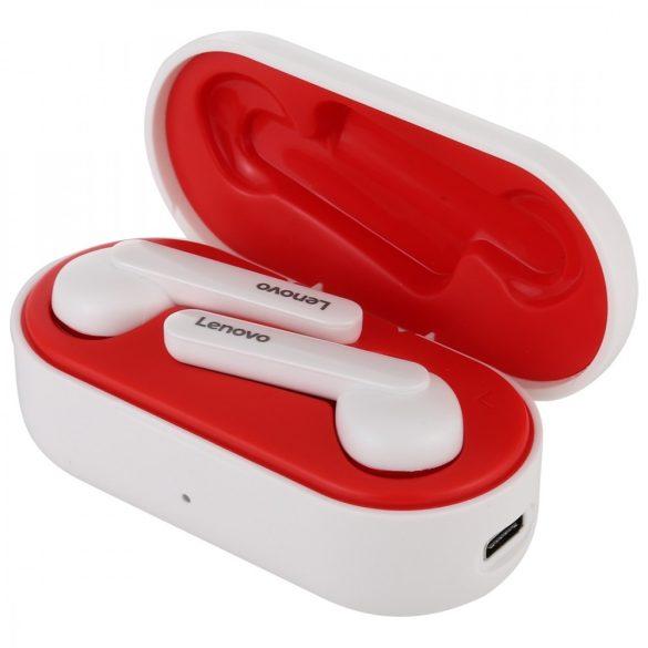Auricolari Lenovo HT28 Bluetooth V5.0: suono nitido, aspetto elegante, controllo touch, impermeabilità IPX5, riduzione del rumore. Bianco e rosso