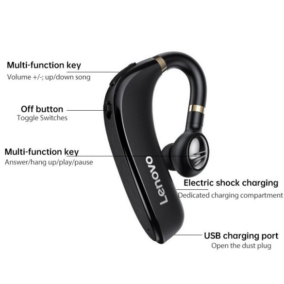 Auricolare Bluetooth 5.0 senza fili Lenovo HX106