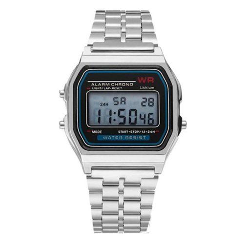 Orologio al quarzo retrò - colore argento, design impermeabile (IP44), cassa in acciaio inossidabile