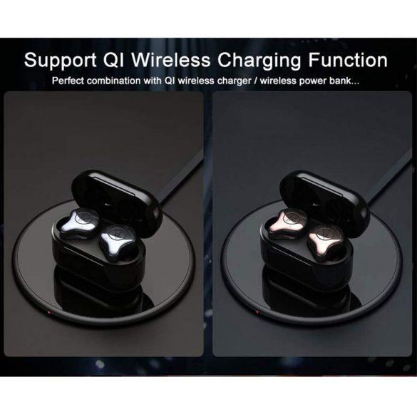 Sabbat E12 Ultra (grigio) with QI-wireless charging - Mini Cuffie Senza Fili Cancellazione Attiva del Rumore Auricolare Bluetooth 5.0 Auricolari Bassi Profondi Auricolari con Microfono - silver