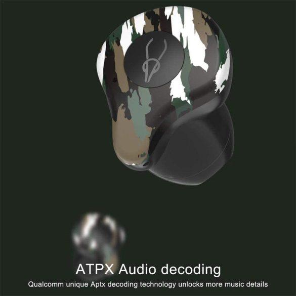 Sabbat X12 Amazon (camuffare) - Mini Cuffie Senza Fili Cancellazione Attiva del Rumore Auricolare Bluetooth 5.0 Auricolari Bassi Profondi Auricolari con Microfono - camuffare